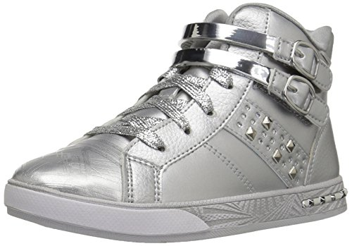 Skechers Kids Girls' Sassy Kicks Sneaker,Silver,