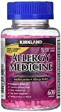 Diphenhydramine HCI 25 Mg - Kirkland Brand - Allergy Medicine and AntihistamineCompare to Active Ingredient of Benadryl® Allergy Generic - 600 Count , Pack of 3