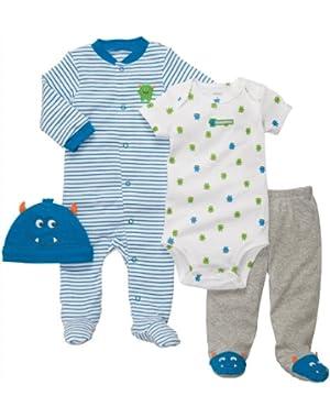 Baby Boys' 4-Piece Layette Set
