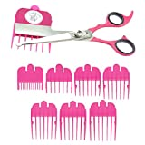 Image of Scaredy Cut Silent Pet Grooming Kit For Cats & Dogs - Quiet Alternative to Electric Clippers For Sensitive Pets - Right-Handed, Pink