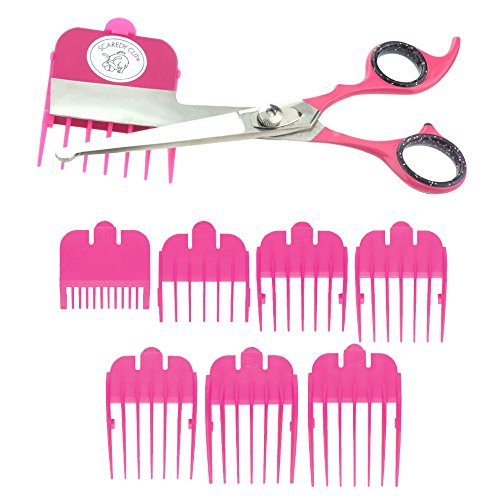 Scaredy Cut Silent Pet Grooming Kit For Cats & Dogs - Quiet Alternative to Electric Clippers For Sensitive Pets - Right-Handed, Pink by Scaredy Cut
