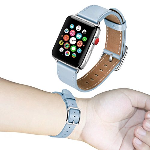 Light Blue Leather Band - 1