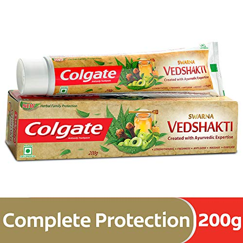 - Colgate Vedshakti 7.05 ounce (200gm) x 3 Three pieces - Created with Ayurvedic Expertise - Anticavity Toothpaste - The Perfect Blend For Complete Protection- Pack of 3
