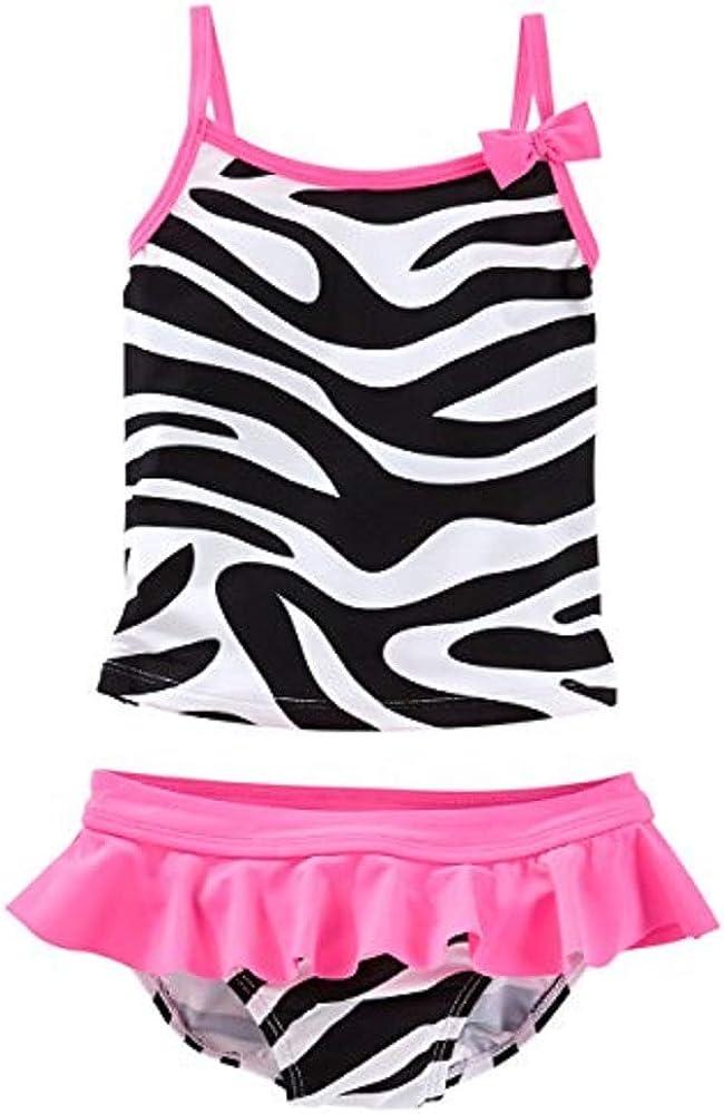 4 Kids OshKosh Bgosh Little Girls Zebra Print Tankini