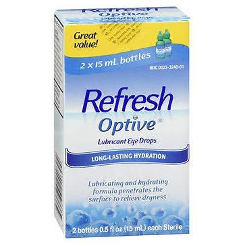 (REFRESH OPTIVE Lubricant Bottles Eye Drops (2 x 15 ml))