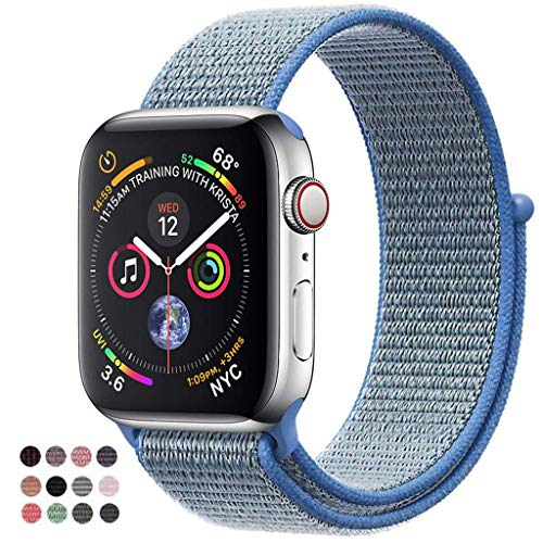 - VATI Band Compatible with Watch Band 38mm 42mm 40mm 44mm Soft Breathable Nylon Sport Band Adjustable Wrist Strap Replacement Band Compatible with 2018 Watch Series 4/3/2/1