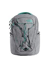 The North Face Women's Borealis Backpack - Zinc Grey Light Heather & Kokomo Green - OS