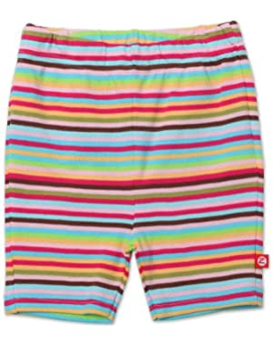 Little Girls' Super Stripe Bike Short
