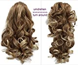PRETTYSHOP 20'' & 120g Hair Piece Pony Tail Extension 2 IN 1 Curled Wavy Heat-Resisting Diverse Colors (blonde mix 27T613 H3-2)