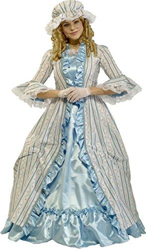 Rubie's Costume Co Women's Grand Heritage Martha Washington, Multi, Medium (Costume Rental)