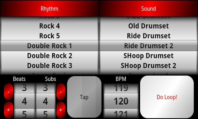 acoustic drum machine appstore for android. Black Bedroom Furniture Sets. Home Design Ideas