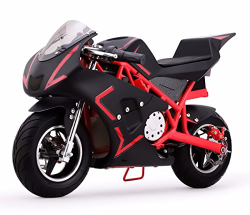 V-Fire 4-Stroke 40CC Kids Gas Pocket Bike (EPA Registered), Red/Black (Mini Kids Chopper)