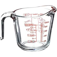Kinetic GoGreen Borosilicate Glass Measuring Cup With Intervals Scale New Kitchen Accessories Easy Measure Liquid Powder Milk Cups (2 CUP(500ml))