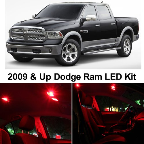 M 2009 & Up Red Premium LED Interior Lights Package Kit (6 Pieces) ()