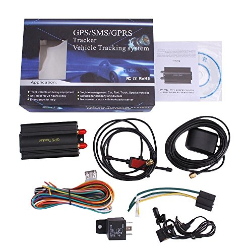 GPS GPRS SMS Real-time tracker TK103A Quad band SD card slot anti-theft  move alarm by SMS