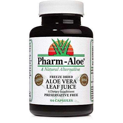 Aloe Vera Capsules by Pharm-Aloe, Great for Digestion, Immune Support and More