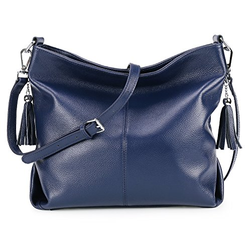 handle Womens Bag Purse Bags Leather Vintage Ladies Cross AINIMOER Tote Handbags Body Top BIG Blue Shoulder SALE AYqwPFFE