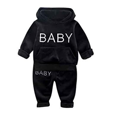 2PCS Kids Baby Girls Clothes Outfits Butterfly Tracksuit Warm Tops+Pants Set UK