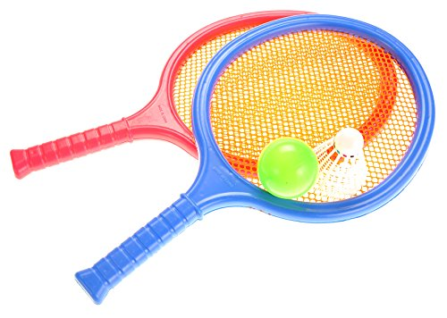 (PowerTRC Badminton and Tennis Play Set with Easy to Grip Colorful Rackets)