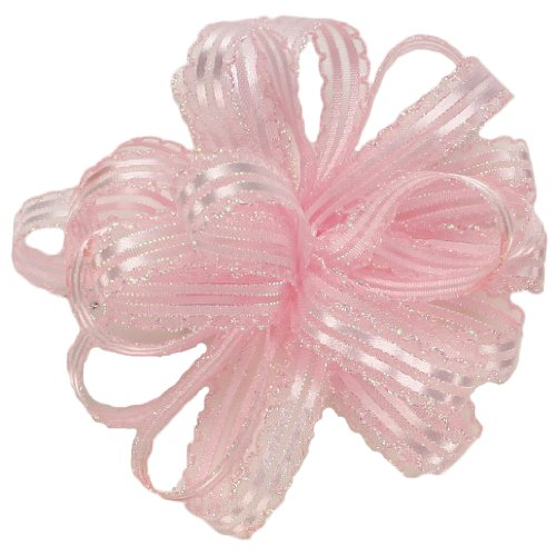 Offray 931707 Kendra Craft Ribbon, 5/8-Inch Wide by 25-Yard Spool, Light Pink/Opal