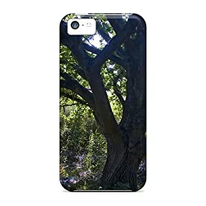 Tpu Fashionable Design Shady Sunlit Tree Rugged Case Cover For Iphone 5c New