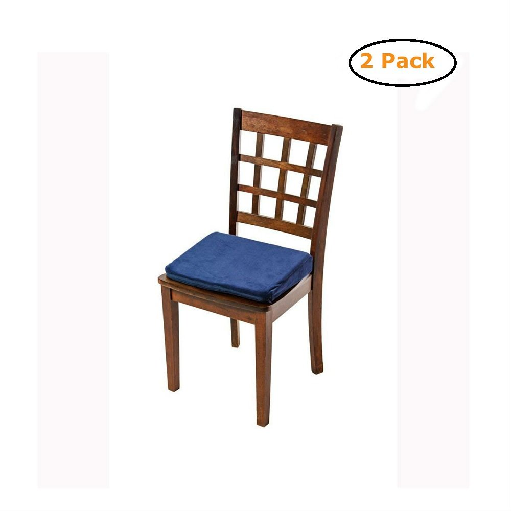 Seat Riser Velour Cover Standard Foam - Size -16X13X3 - Navy - Pack of 2