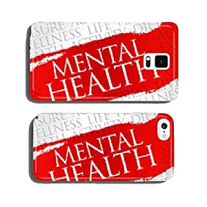Mental health word cloud, health concept cell phone cover case Samsung S6