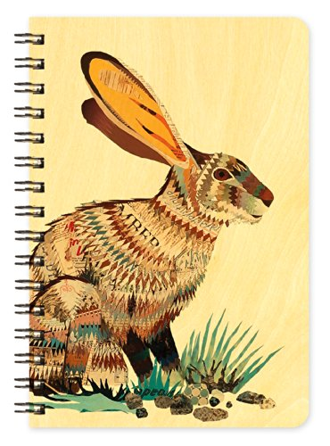 Jack Rabbit Wooden Pocket Notepad by Dolan Geiman and Night Owl Paper Goods
