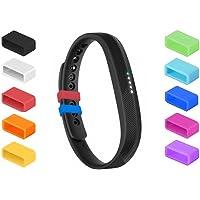 NEO+ Siliconen bevestigingsmiddelen voor Fitbit Flex 2, Fix the Clasp Fall Off Problem - Bevestig de polsband in stijl…