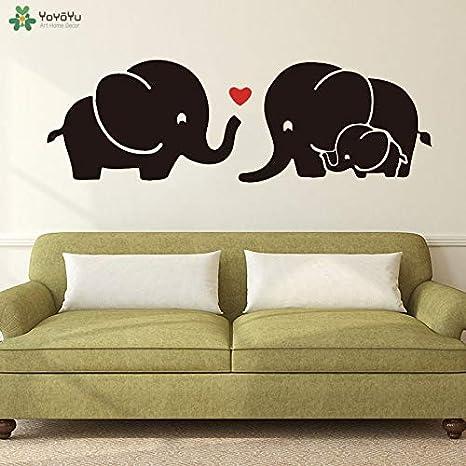 Tatuajes de pared Familia de Dibujos Animados Elefantes Amor ...