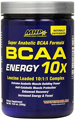 MHP BCAA 10 x énergie, pastèque, 10,6 oz