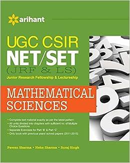 UGC CSIR NET/SET (JRF & LS) Mathematical Sciences: Amazon in