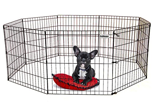 Pen Exercise Ultimate Black (PetDanze Dog Puppy Playpen Pen 24