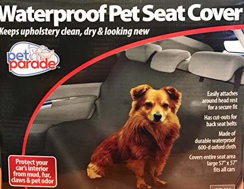 Pet Parade Waterproof Pet Seat cover, Gray by Pet Parade