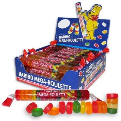 Haribo Mega-Roulette Gummi Candy 24ct CASE (1.5oz (Mega Roulette)