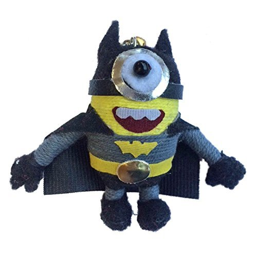 Minion in Batman Costume Voodoo String Doll Keychain by String Dolls (Handmade Batman Costume)