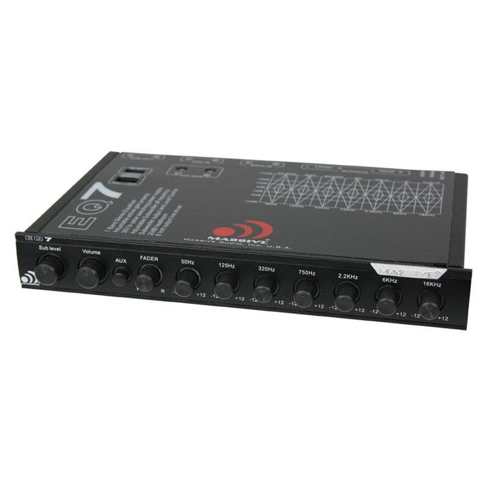 Massive Audio EQ-7X Car Equalizer with 7 Band Graphic Equalizer}