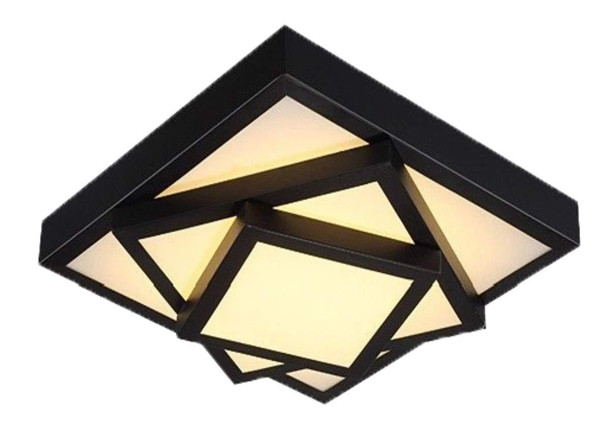Style home 54W LED Deckenleuchte Deckenleuchte Deckenleuchte Deckenlampe Voll dimmbar mit Fernbedienung für Wohnzimmer Schlafzimmer Kinderzimmer Küche Quadratisch (Schwarz) 365abe