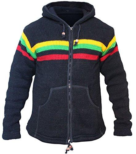 (Shopoholic Fashion Men Winter Rasta Hippie Jacket)