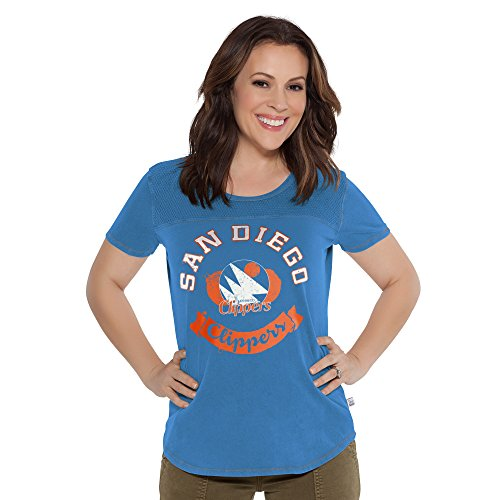 (Touch by Alyssa Milano NBA San Diego Clippers Gridiron Tee, Small, Blue)