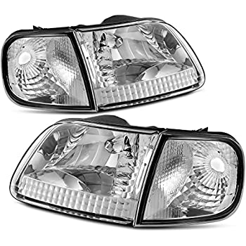 ford expedition 1997 1998 1999 2000 2001 2002 led halo projector headlights chrome. Black Bedroom Furniture Sets. Home Design Ideas