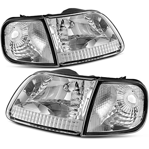 Headlight Assembly for 97-03 Ford F-150/97-02 Ford Expedition Pickup Headlamp