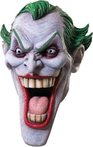 [Rubie's Costume Dc Heroes and Villains Collection Joker Latex Mask, Multicolored, One Size] (The Joker Masquerade Costume)