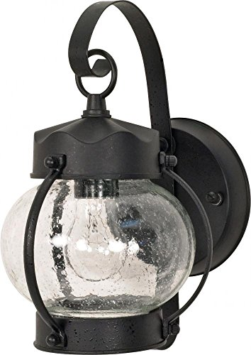 - Nuvo Lighting 60/632 One Light Fixture Outdoor Wall Mount, Small Onion Lantern, Textured Black