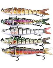 HENG JIA / 5Pcs Fishing Multi color Lifelike Swimming Bass Lures Freshwater Saltwater Bass Fishing baits,13.7cm-27g
