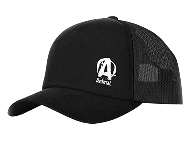 cc0fdef01d1f8 Universal Nutrition Animal Flexfit Cap Mesh Hat (Black Front   Black Mesh  Back)
