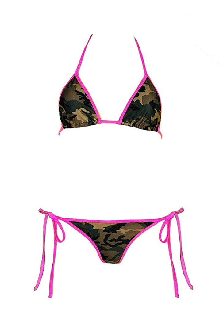 40a73312cd Southern sisters camouflage pink string bikini top and bottom woodlands  army camo swimwear clothing jpg 727x1090