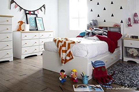 Maple Finish Mates Bed (ioneyes Twin Bed Maple Shore Furniture Summertime Collection Mates Pure White And Natural)