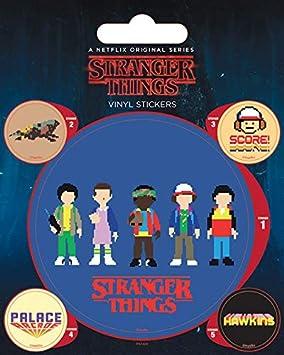 1art1 Stranger Things - Arcade, 1 Grande 4 Pequeñas Pegatinas Vinilo Decorativo Pegatina Autoadhesivo (12 x 10cm): Amazon.es: Hogar
