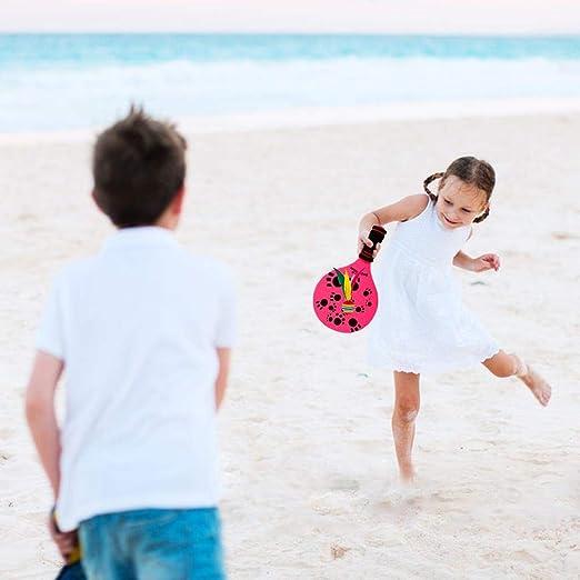 per Juego de paletas de Playa Raqueta de Madera Raqueta de ...